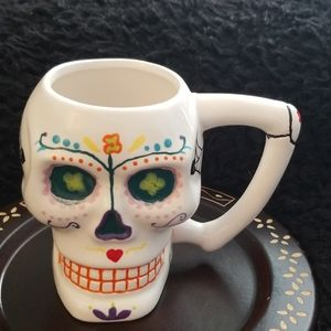 Other - Handpainted Sugar Skull 20oz Coffee Mug